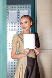 Smiling businesswoman - blank with copy space Stock Photography