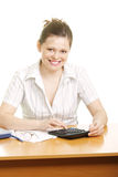 Smiling businesswoman with calculator Stock Photos