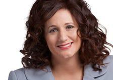 Smiling businesswoman closeup Stock Image