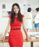 Smiling Businesswoman in Creative Office Royalty Free Stock Images