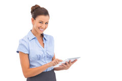 Smiling businesswoman with digital tablet Stock Photography