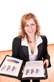 Smiling businesswoman with documents Stock Image