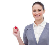 Smiling businesswoman doing a presentation Stock Photography