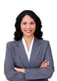 Smiling businesswoman with folded arms Royalty Free Stock Photography