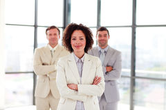 Smiling businesswoman with folded arms Royalty Free Stock Photo