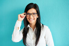 Smiling businesswoman in glassesSmiling businesswoman in glasses Royalty Free Stock Photography
