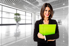 Smiling businesswoman in her office Royalty Free Stock Images