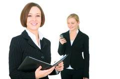Smiling Businesswoman Holding Agenda Royalty Free Stock Image