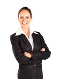 Smiling businesswoman isolated Stock Photography