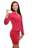 Smiling businesswoman in jacket Stock Images