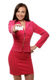 Smiling businesswoman in jacket Royalty Free Stock Image