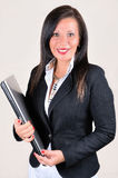 Smiling businesswoman with laptop Royalty Free Stock Image
