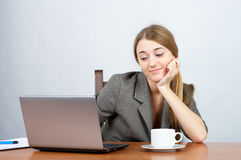 Smiling businesswoman looking Royalty Free Stock Image