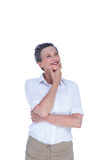 Smiling businesswoman looking away Stock Image