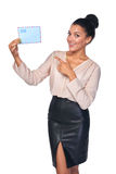Smiling businesswoman with mail Stock Image