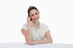 Smiling businesswoman making a phone call Royalty Free Stock Photography