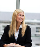 Smiling businesswoman in a meeting Stock Image