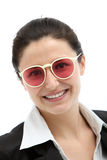 Smiling businesswoman in modern glasses Royalty Free Stock Photography