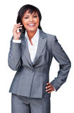 Smiling businesswoman on phone Royalty Free Stock Image