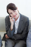 Smiling businesswoman on phone Stock Image