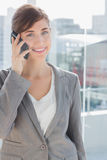 Smiling businesswoman on the phone Royalty Free Stock Image