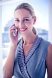 Smiling businesswoman on the phone Stock Image