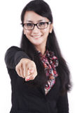 Smiling businesswoman pointing Stock Photos