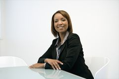 Smiling businesswoman portrait Stock Images