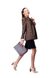 Smiling businesswoman portrait full length Stock Photography