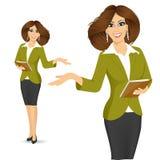 Smiling businesswoman showing something Royalty Free Stock Photos