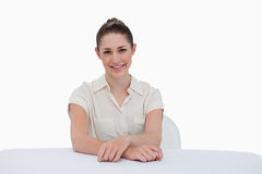 Smiling businesswoman sitting Royalty Free Stock Photography