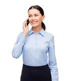 Smiling businesswoman with spartphone Royalty Free Stock Photography