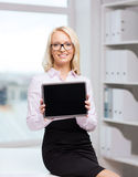 Smiling businesswoman or student with tablet pc Stock Photography
