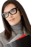 Smiling businesswoman in stylish glasses Stock Images