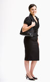 Smiling businesswoman in suit Stock Photography
