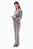 Smiling businesswoman with tablet Royalty Free Stock Photos