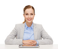 Smiling businesswoman with tablet pc Stock Photo