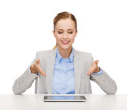 Smiling businesswoman with tablet pc Stock Photos
