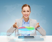 Smiling businesswoman with tablet pc Stock Image