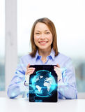 Smiling businesswoman with tablet pc computer Royalty Free Stock Image