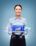 Smiling businesswoman with tablet pc computer Stock Photography