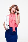 Smiling businesswoman talking on the phone Royalty Free Stock Images