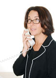Smiling Businesswoman On Telephone Stock Image