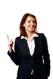 Smiling businesswoman with thumb up Stock Photography