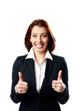 Smiling businesswoman with thumbs up Royalty Free Stock Photos