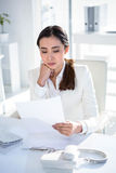 Smiling businesswoman using computer Royalty Free Stock Image
