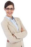 Smiling businesswoman wearing glasses Royalty Free Stock Photos