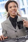 Smiling businesswoman working Royalty Free Stock Photo