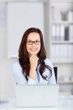 Smiling businesswoman Stock Photo