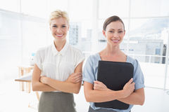 Smiling businesswomen looking at camera Royalty Free Stock Image